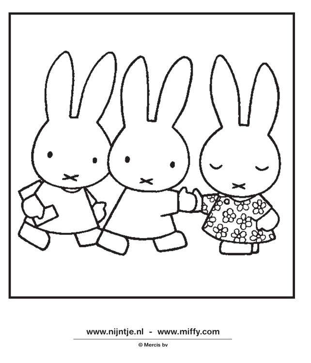 Miffy And Friends Coloring Pages Ragna Amp Miffy