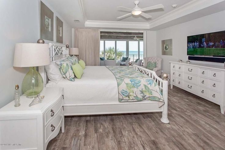 Tropical Master Bedroom With Marazzi Montagna Rustic Bay 6 In X 24 In Glazed Porcelain Floor