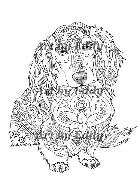 49 best images about dachshund coloring book  art of