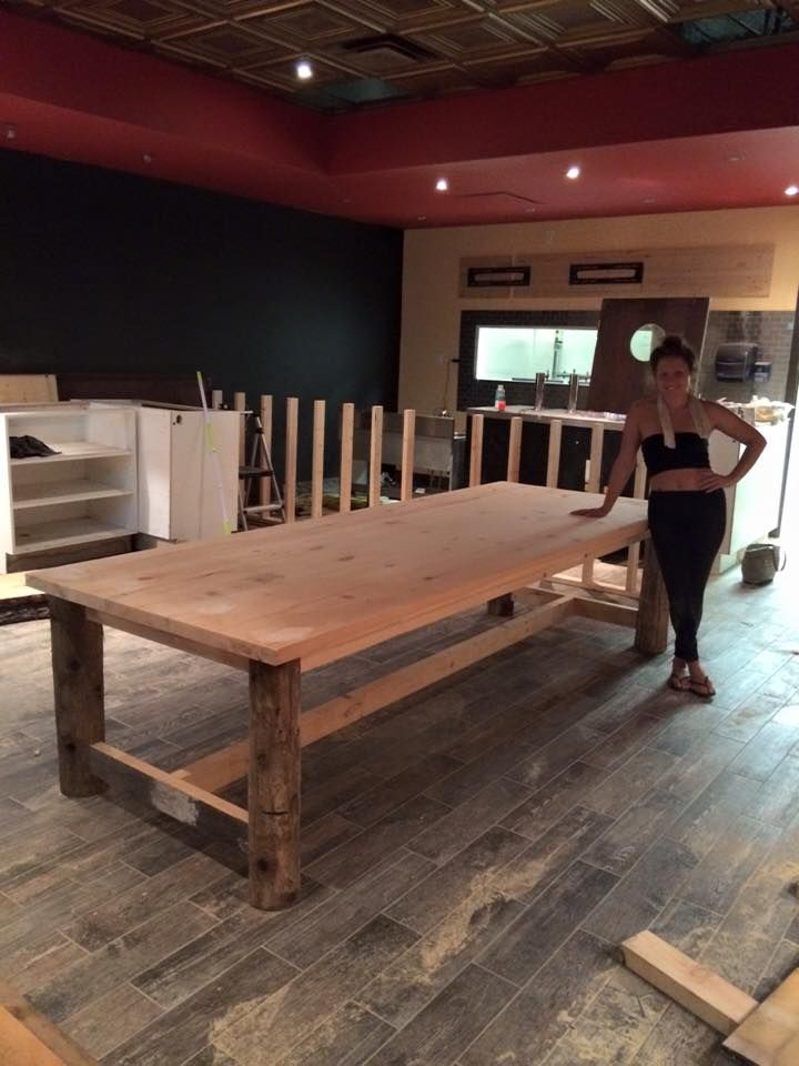 Custom Design And Hand Made Solid Pine 10 Harvest Table