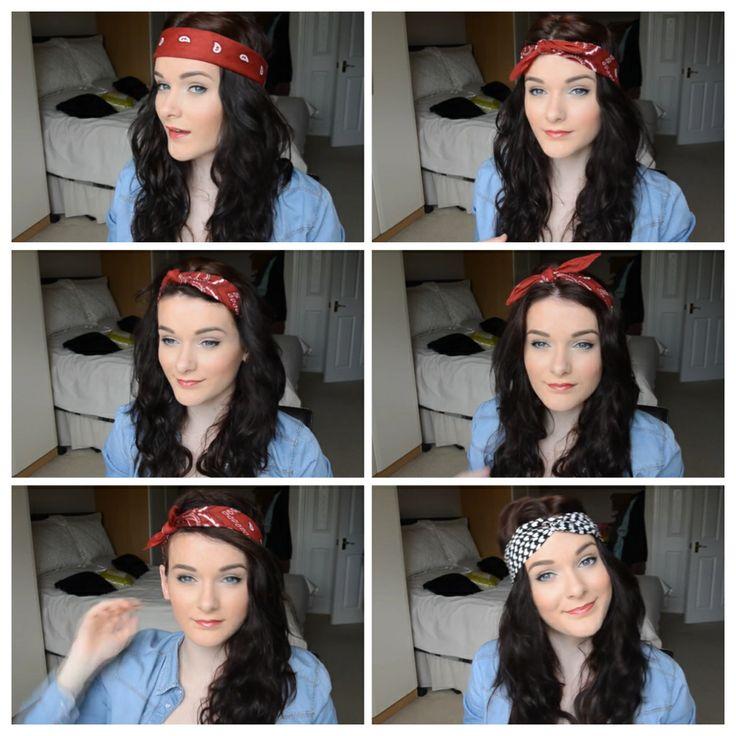 Different ways to wear a bandana hair stuff pinterest