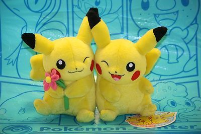 Pokemon Center Campaign Plush Pair Pikachu Stuffed Toy