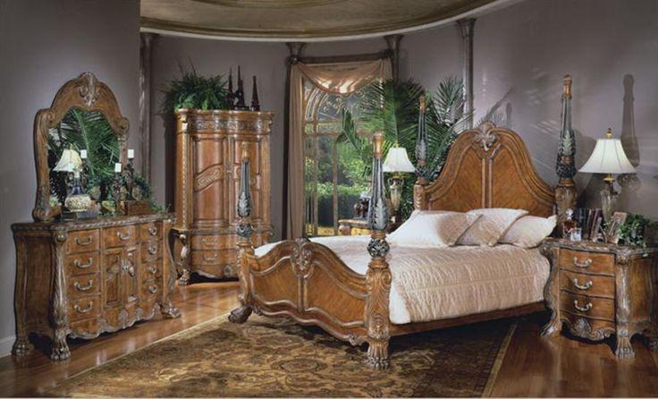Aico Furniture Paradisio 7-piece Poster Bedroom Set