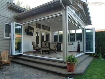 Monarch Glass Walls Traditional Patio Idea For Removable