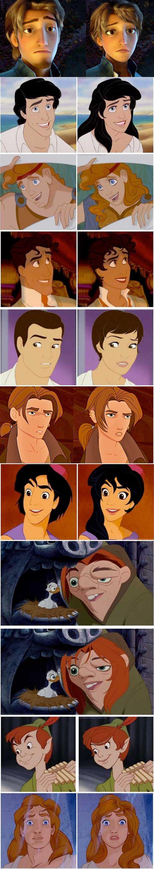Gender-Bending Disney Characters.