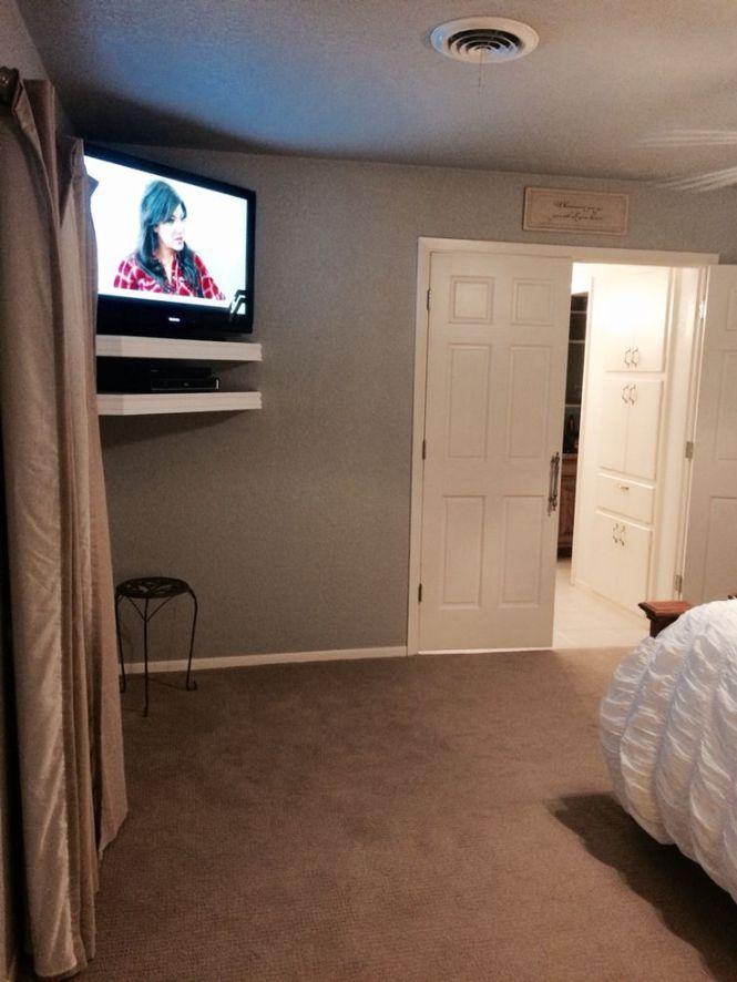 Floating Corner Tv Shelves Master Bedroom Bat Ideasbedroom
