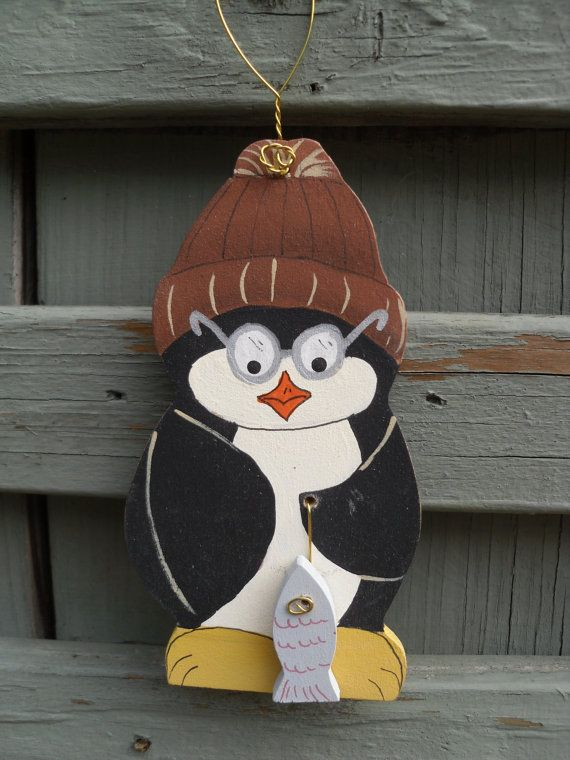 Penguin Wood Craft Woodcraft Patterns Country Painting