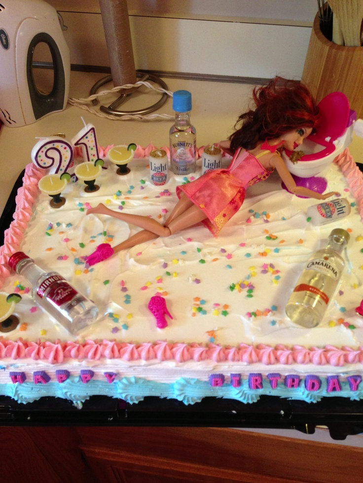 The Best 21st Birthday Cake Ever Leave The Mini Bottles