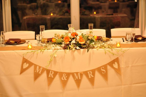 Rustic Head Table I Love The Banner Wedding