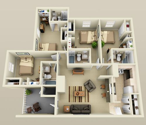 4 Bedroom Small House Plans Smallhomelover Com 2