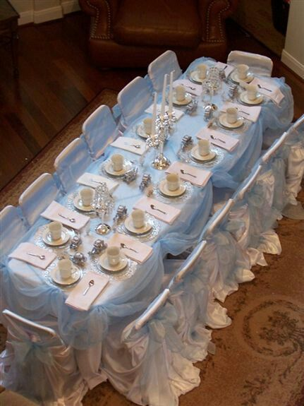 Hopes Cinderella Birthday Tea Party Table Setting We Want