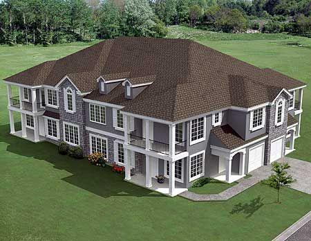 Plan 18511wb 8 Unit House With Corner Decks