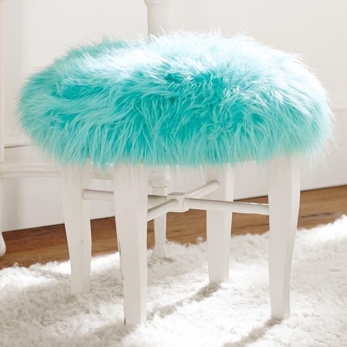 Himalayan Pool Glam Vanity Stool Fabulous Furniture