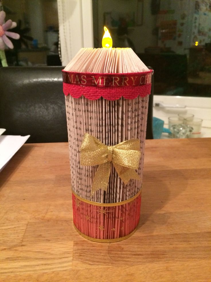 Christmas Candle Bookfold My Book Folds Pinterest