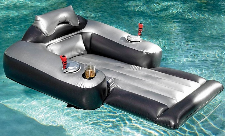 A Motorized Inflatable Pool Lounger Creates Total