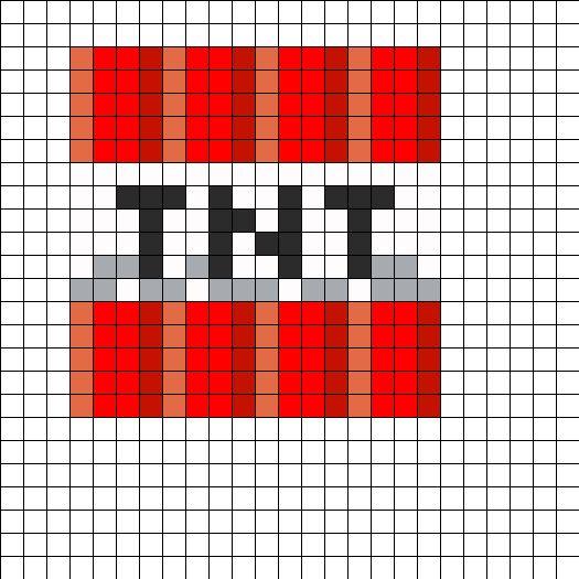 MinecraftTNTBlock By Azhuresjewels On Kandi Patterns