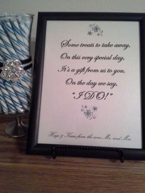 Winter Wedding Candy Table Sign 1 Boyt Wedding Cake