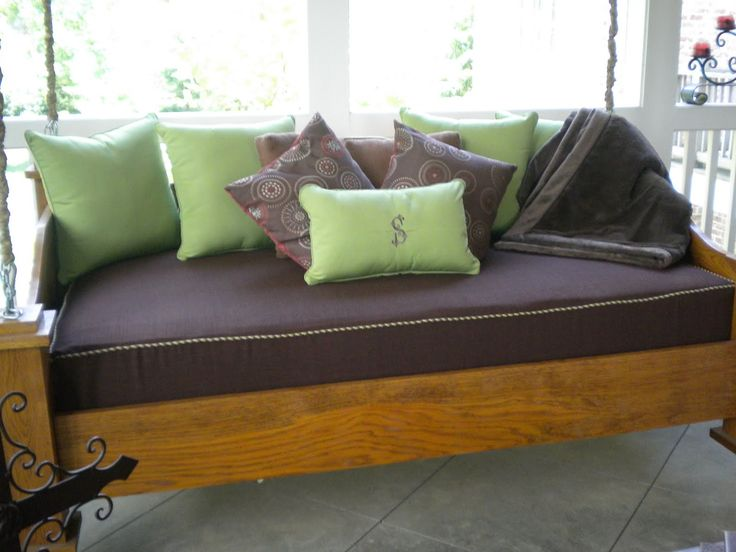 twin mattress slipcover with piping   The Material Girl ... on Belham Living Lilianna Outdoor Daybed id=70941