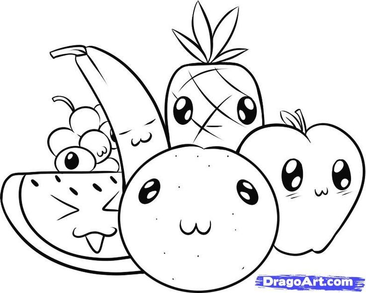 how to draw fruit stepstep food pop culture free