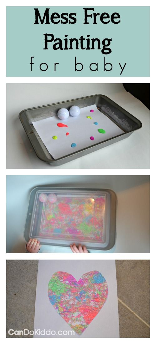 Mess Free Golf Ball Painting For Babies Perfect For