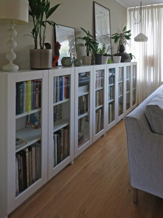 Ikea Hack Billy Bookcase As Long Sideboard Storage For The Home Pinterest Bookcases