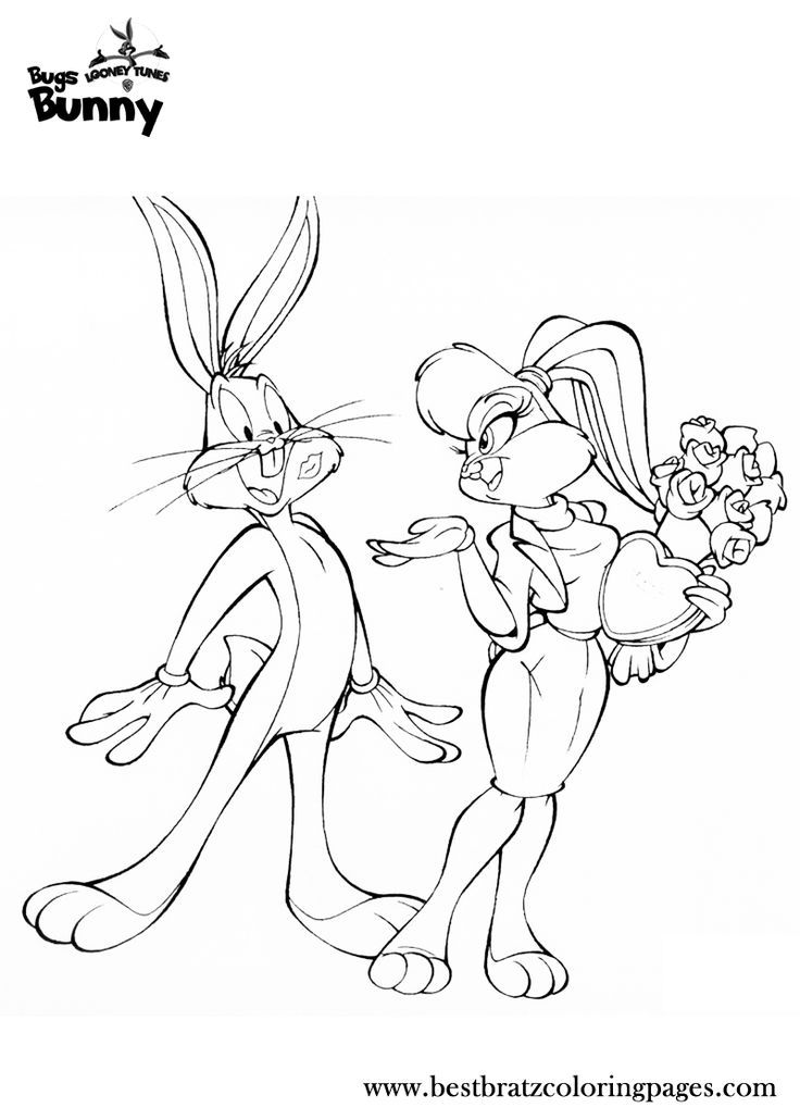 bugs bunny coloring pages  coloring book  pinterest  in