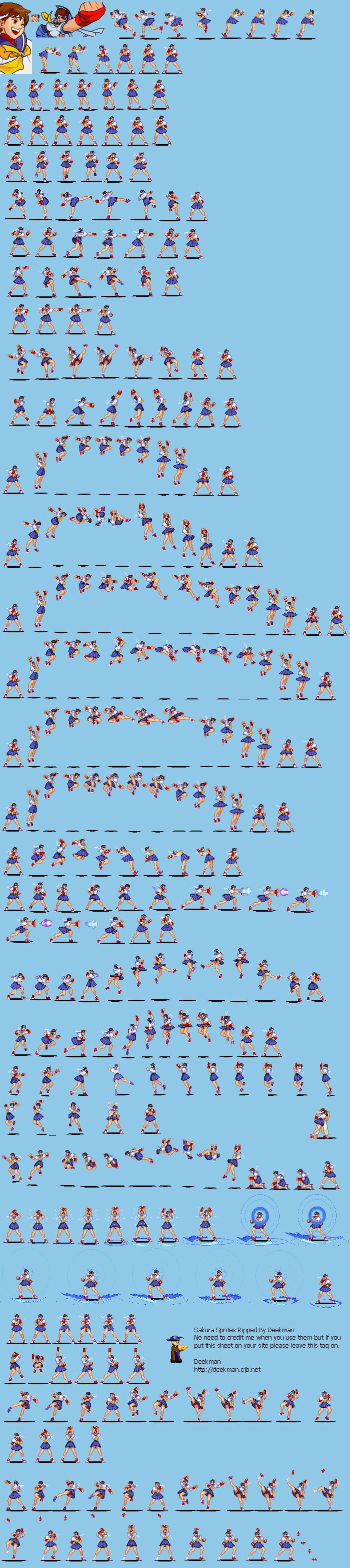 Fighter Street Sprite Games Sheets 4
