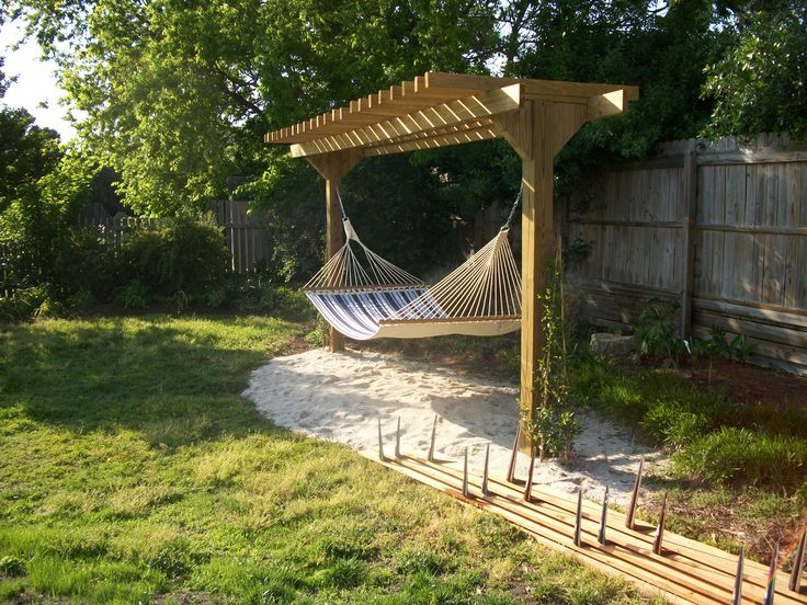 Pergola With Hammock Outdoor Projects Pinterest