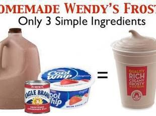 WENDYS HOMEMADE FROSTYS – my mom has made this for years and it does taste just like a Wendys frosty!
