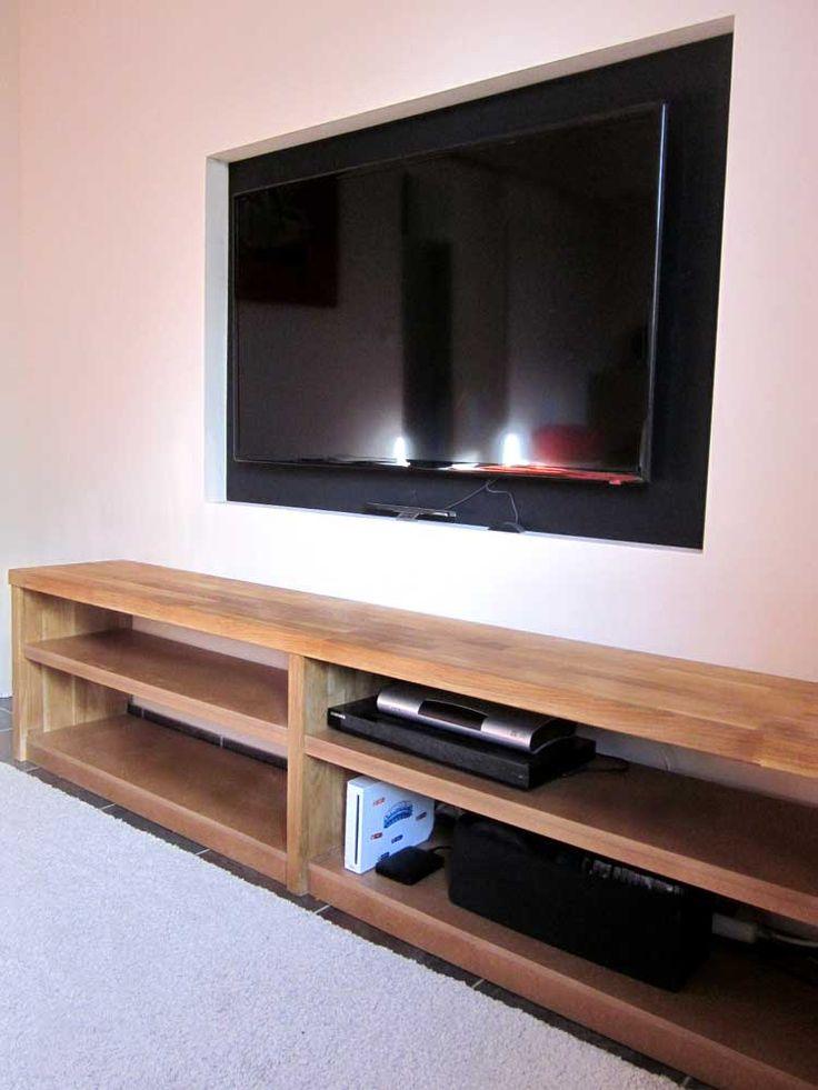 Meuble TV En Chne Et Mdium AU 303 HOME DECO Tuto DIY
