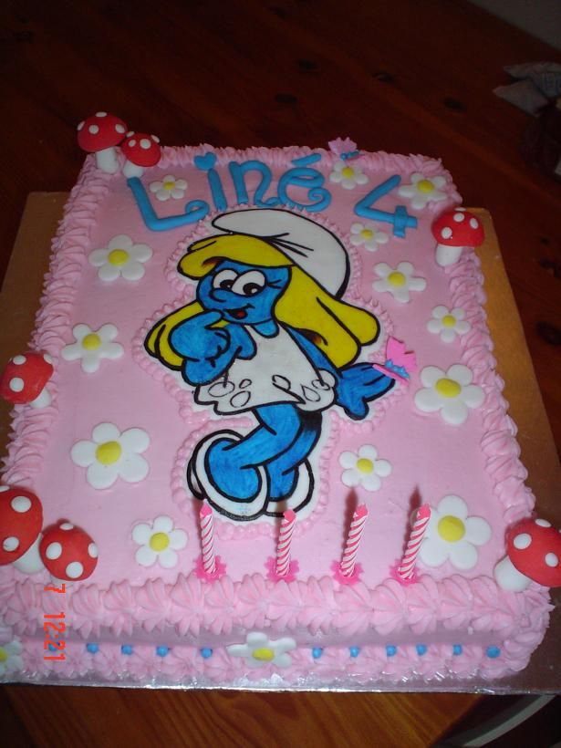 Smurfette Cake Cakes For Children Pinterest Cake And