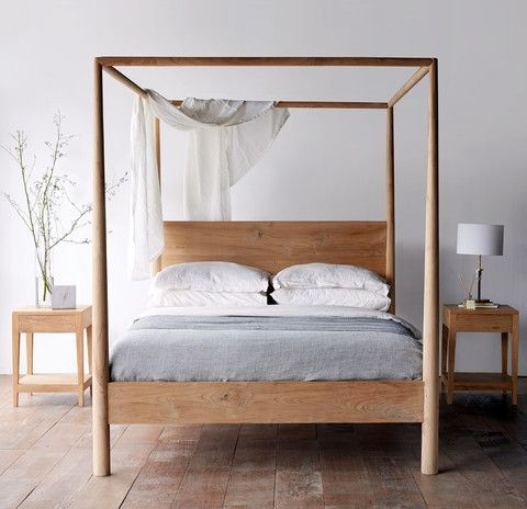 Himalaya Bed Teak NATURAL Four Post Bed Australian King Size Small Master Bedroom Designs On A