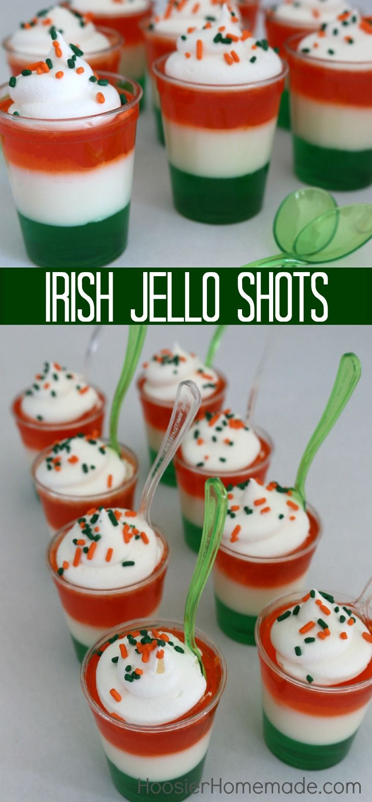 Irish Jello Shots – this fun St. Patrick's Day Treat can be made with or without alcohol. A little goes a long way in making these