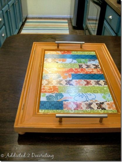 Picture Frame Serving Tray Bed Tray Old Picture Frames