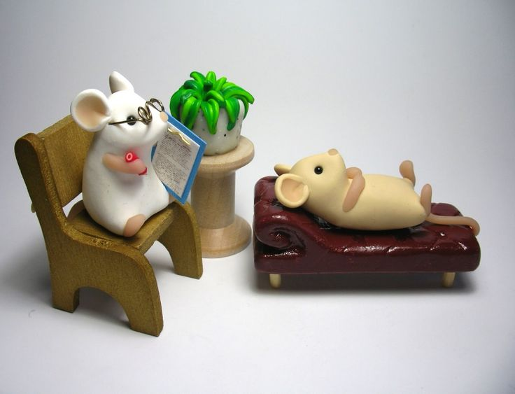 Lol So Cute Polymer Clay Mouse Therapist Polymer Mice