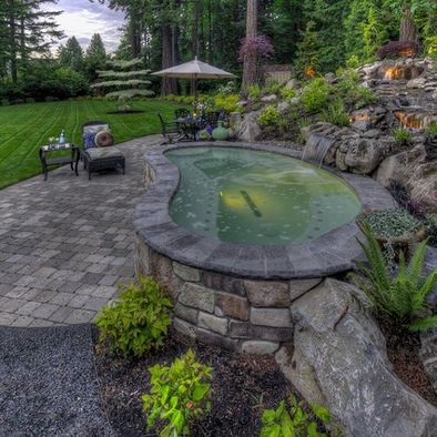 Above Ground Pool Landscaping Landscape Above Ground