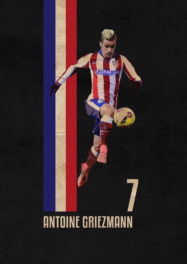 Antoine Griezmann Atletico Madrid Poster Football Design Collection Pinterest Antoine
