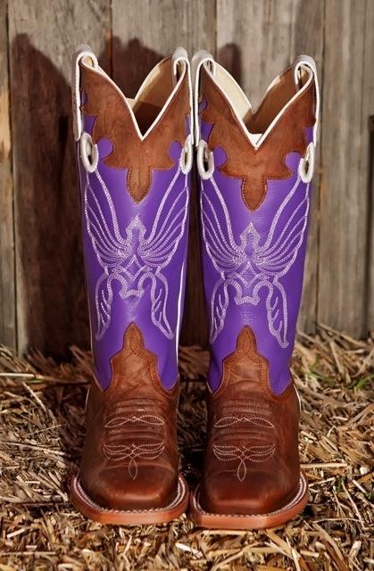 Boot Corral Purple Inlay