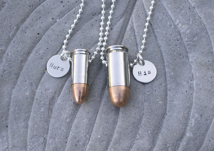 His And Hers Bullet Jewelry Necklaces Customized By