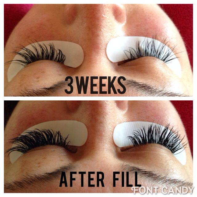 Before Amp After Eyelash Extension Fill Sapphire Spa