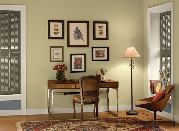 interior paint ideas and inspiration green colors and on green office paint color id=78240