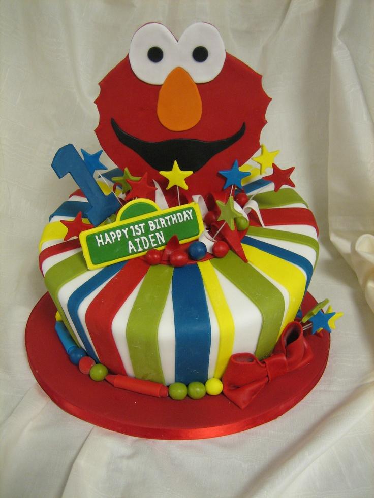 Amy Beck Cake Design Chicago Il Elmo First Birthday