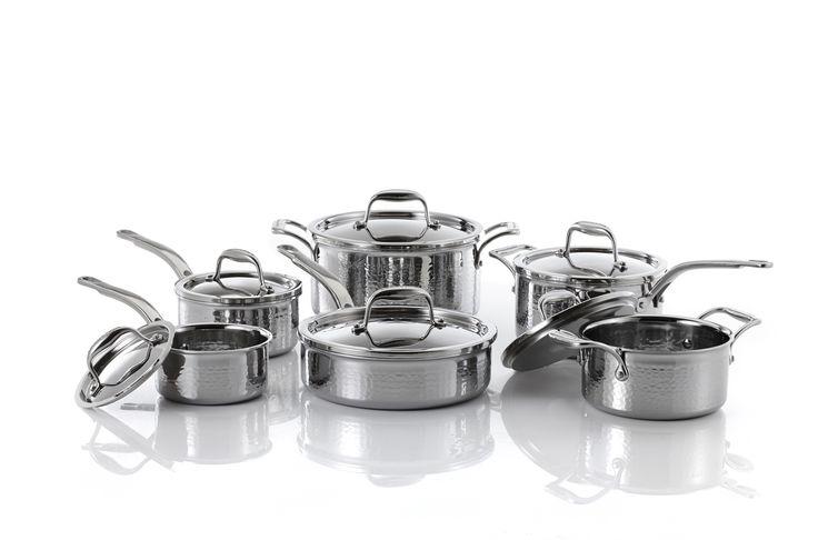 Lagostina Artiste Clad 12 Piece Hammered Cookware Set