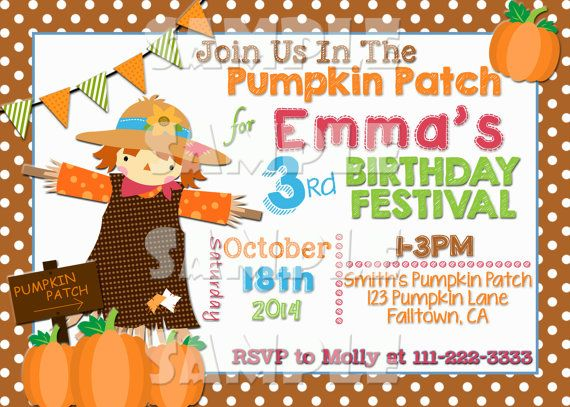 Fall birthday party invitations newsinvitation scarecrow birthday invitation fall invite baby shower autumn girl or boy festival filmwisefo