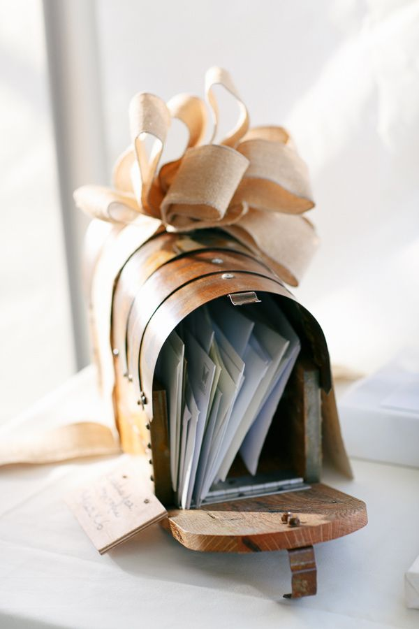 mailbox for cards from guests // photo by Kina Wicks // http://ruffledblog.com/romantic-illinois-farm-wedding:
