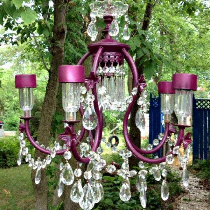 dollar tree solar lights and discarded chandelier pretty on awesome deck patio outdoor lighting ideas that lighten up your space id=70524