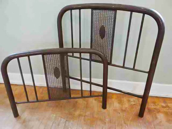 Antique Simmons Iron Bed Frame Headboard Footboard