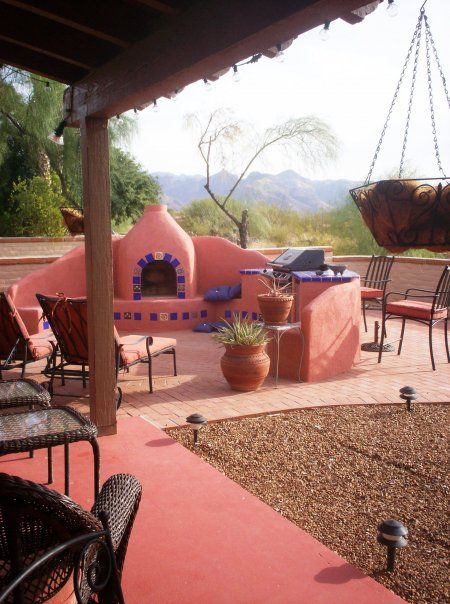 132 best Mexican courtyards images on Pinterest on Mexican Patio Ideas  id=48234