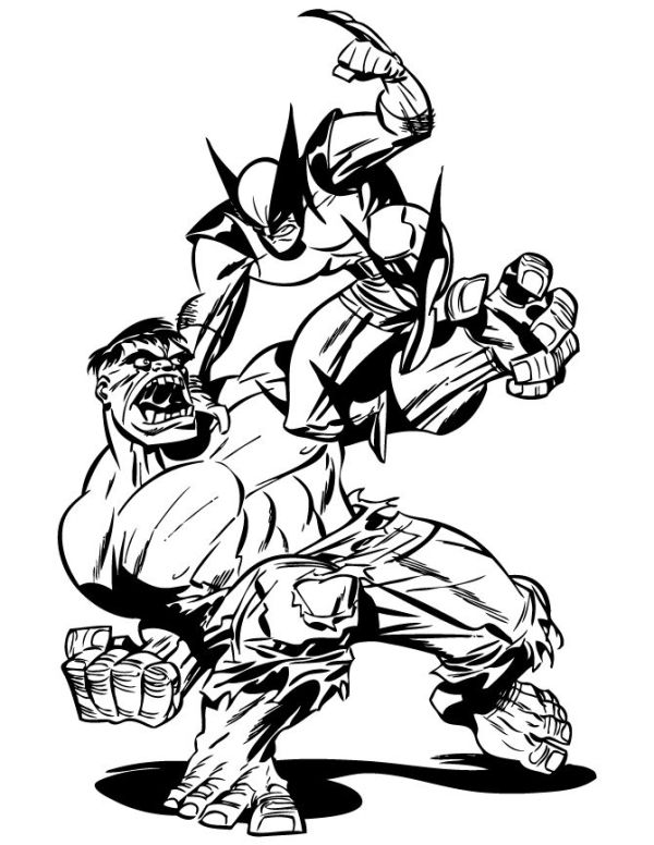 hulk hogan coloring pages | 4 Kids Coloring Pages ...