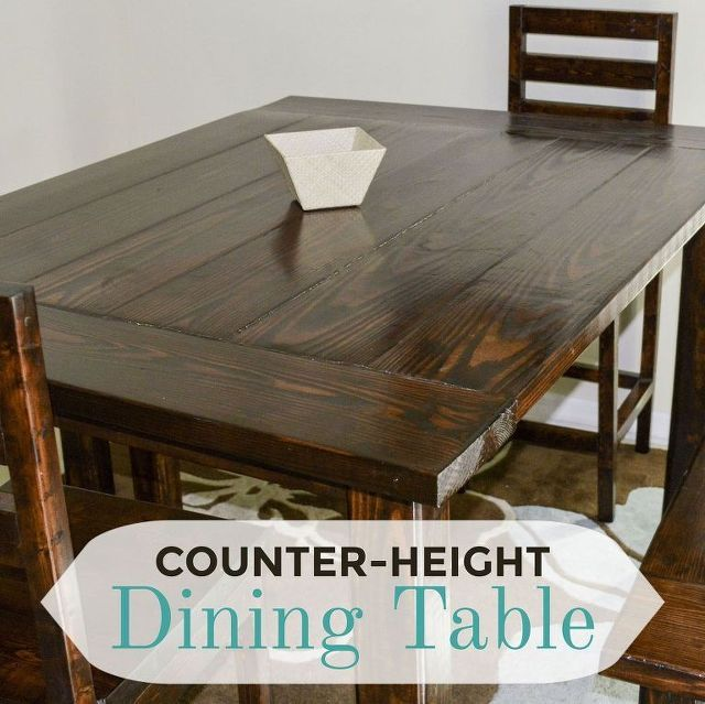 Diy Counter Height Dining Table Dining Rooms Room Ideas